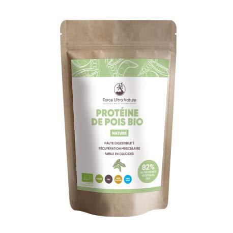 Protéine de pois Nature certifié BIO 100% Vegan, sans OGM, ni...