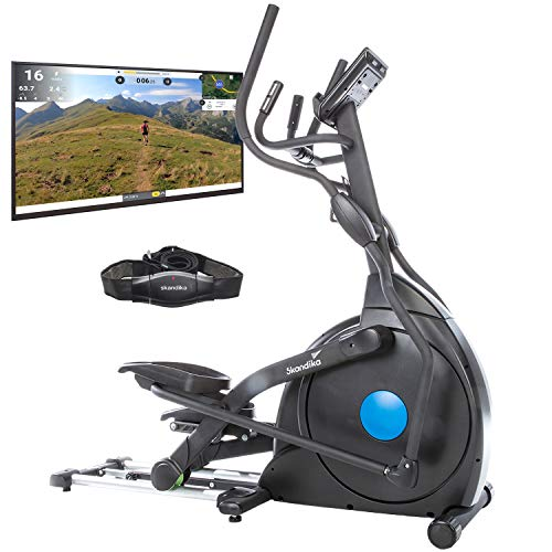 skandika CardioCross Carbon Champ - Vélo elliptique - Bluetooth -...