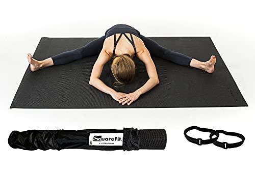 SquareFit - Tapis de Yoga Extra Large | 122x183cm épaisseur 8mm |...