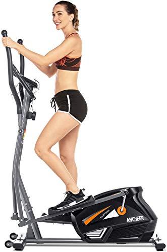 ANCHEER Elliptique Fitness Vélo d'exercice 10 Niveaux de...