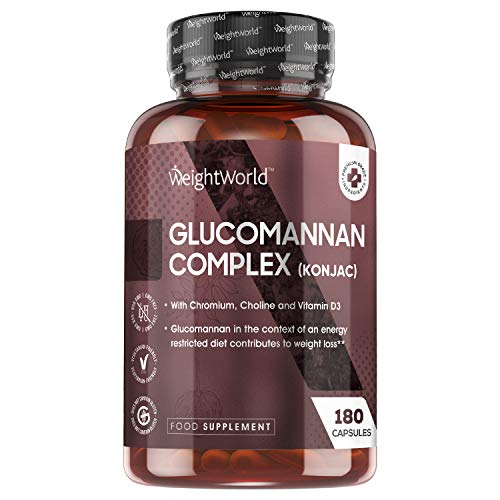 Glucomannane Konjac - 180 Gélules 3000mg Hautement Dosé 100% Naturel...
