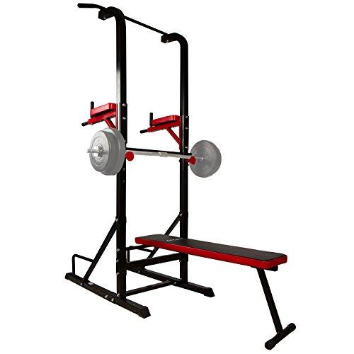 CCLIFE Banc de Musculation multifonctionel - Banc muscu, Station dips,...