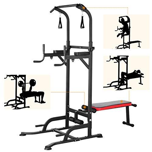 Femor Banc de Musculation Pliable,Barre de Tractions,Chaise...