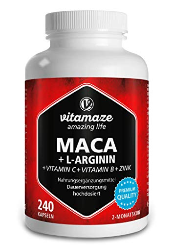 Vitamaze® Maca Gélules Fort Dosage 4000 mg + L-Arginine + Vitamines...