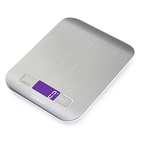 GPISEN Smart Digital Balance avec écran LCD pour Cuisine en acier...