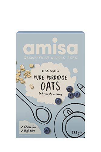 Amisa Organic Gluten Free Porridge Oats 325 G (Pack of 6)