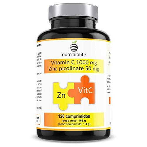Vitamine C 1000 mg + Zinc Picolinate 50 mg par comprimé - Hautement...