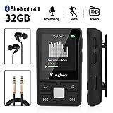 Lecteur MP3, Mini Lecteur MP3 Bluetooth Sport avec Kingbox 32Go, HiFi...