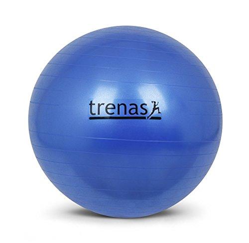 trenas Ballon de Gymnastique 55 cm - Anti-éclatement - avec Pompe -...