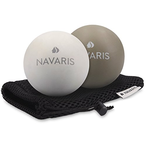 Navaris 2x balle de massage - Boule Lacrosse auto-massage muscle pieds...