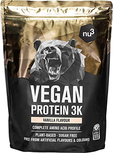 nu3 Protéines Vegan 3K - 1kg Poudre Vanille - 72% de protéines à...
