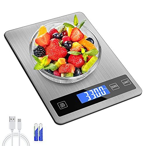 Balance Cuisine Numérique Electronique, 15kg/33lb Balance...