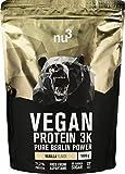 nu3 Protéines Vegan 3K - 1kg Poudre Vanille - 71% de protéines à...