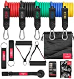Set de Bandes de Résistance Elastique Musculation + Guide Exercices...