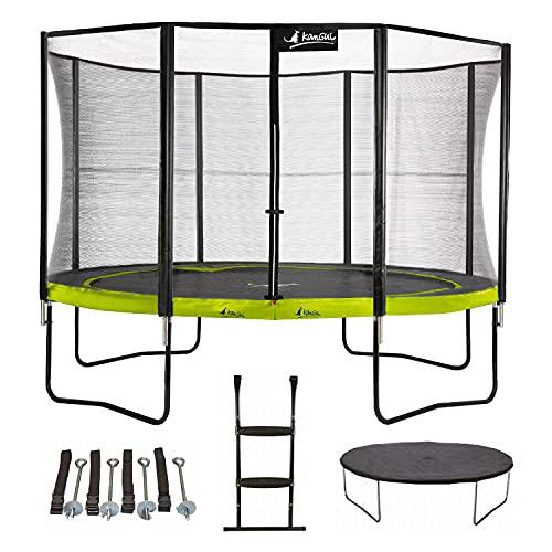 Kangui - Trampoline de Jardin 365 cm + Filet + échelle + bâche + kit...