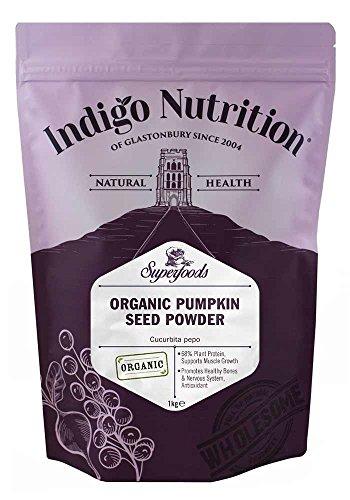Indigo Herbs Protéines de Graines de Citrouille Bio en poudre 1kg
