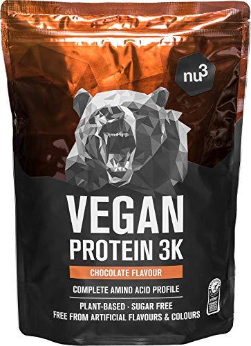 Protéines Vegan 3K 1kg - Chocolat - 71% de Protéines à base de 3...