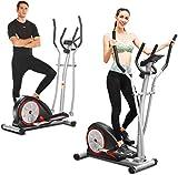 ANCHEER Vélo de Fitness Machine elliptique avec 8 Niveaux de...