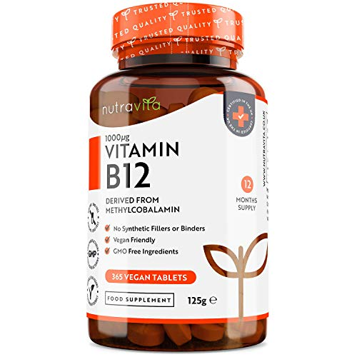 Vitamine B12 1000 µg Végan - 12 Mois d'Approvisionnement - 365...