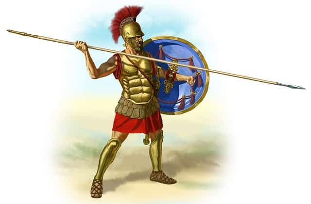 Corps en V - Soldat romain