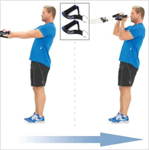 Exercice biceps - curl avec des bandes Bodylastics