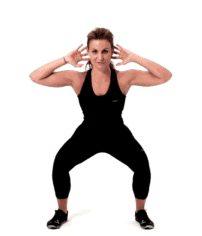 Prisoner squat - exercices pour maigrir et affiner les jambes
