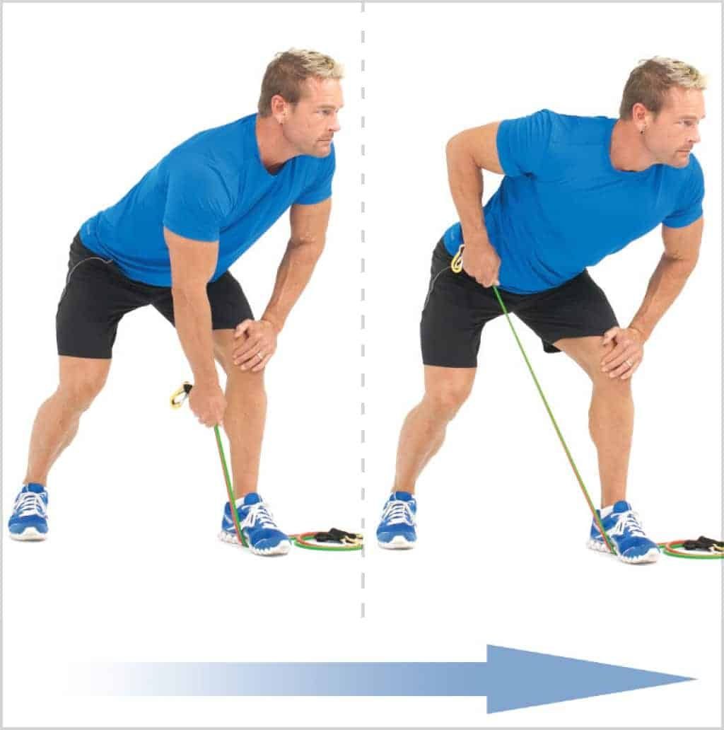 Exercice musculation dos - Tondeuse à gazon