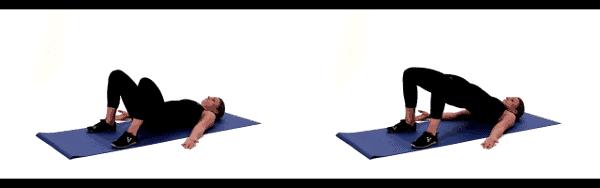 Exercice musculation dos - Le pont ou hip raise