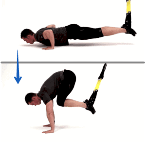 Exercice TRX - atomic push up