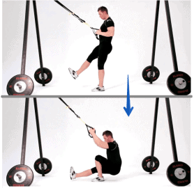 Exercice TRX - single leg squat trx