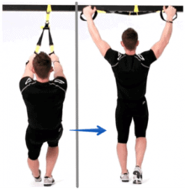 Exercice TRX - Y deltoid fly