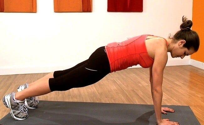 Exercices abdos - planche