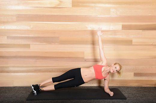 Exercices abdos - side plank ou planche de côté