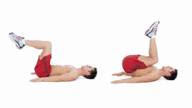exercices abdos reverse crunch