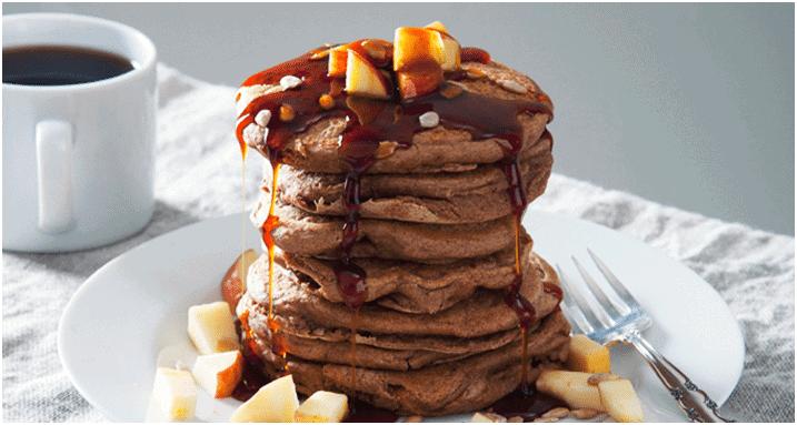 Par quoi remplacer la viande - Crêpes protéinées pomme cannelle