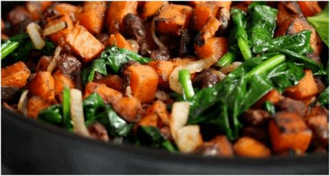 Plat de protéines végétales - Hachis Mexicain de patates douces