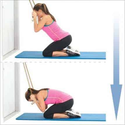Crunch abdos avec bande de résistance musculation