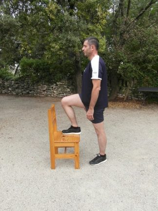 Exercices poids du corps - Escalier 1