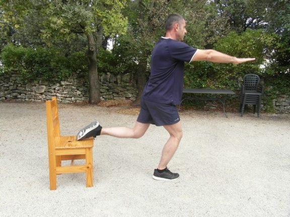 Exercices poids du corps - Squats bulgares 2