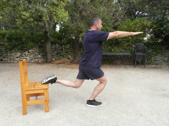 Exercices poids du corps - Squats bulgares 3
