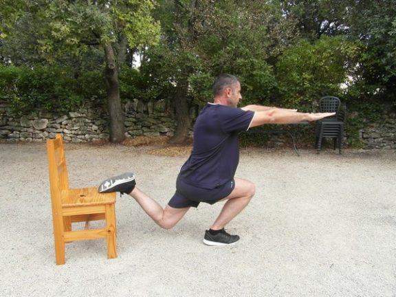 Exercices poids du corps - Squats bulgares 4