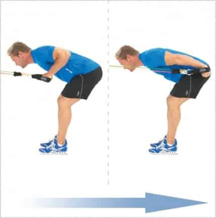 Triceps kickback élastique de musculation avec poignées