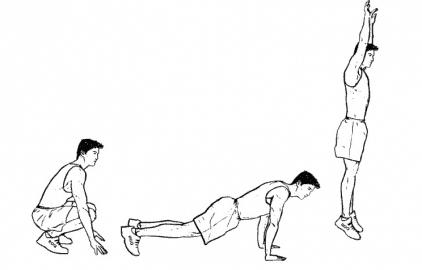 Burpees pour faire de la musculation sans matériel