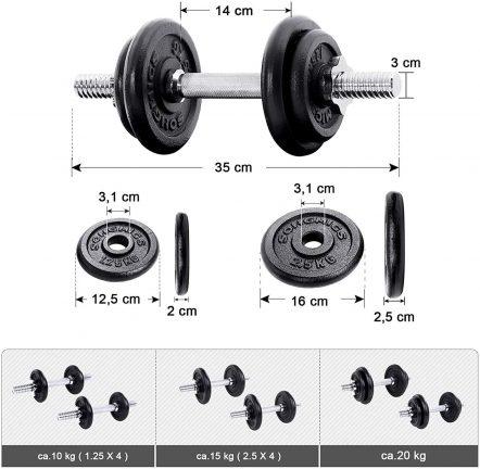 kit haltères courts 20 à 60 kilos