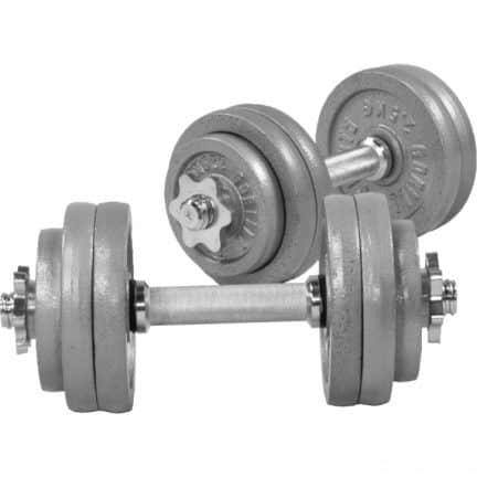 Gorilla Sports Haltères 2 X 15 kg