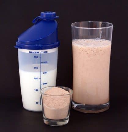 Shaker de protéine végétale en poudre