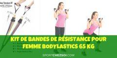 Kit de bandes de résistance pour femme Bodylastics 65 kg