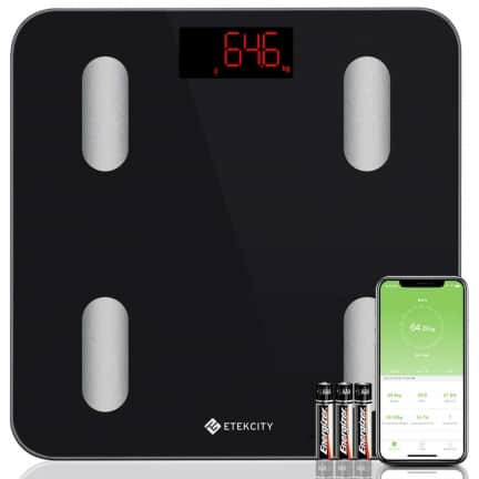 Pèse personne connectée pour le calcul poids idéal