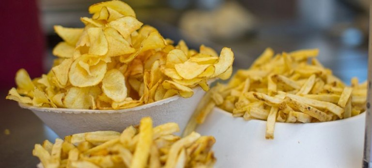 Frites et chips à supprimer pour perdre du ventre