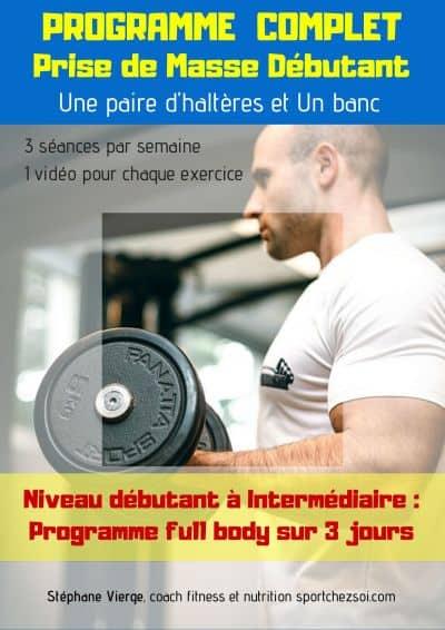 Programme prise de masse musculaire